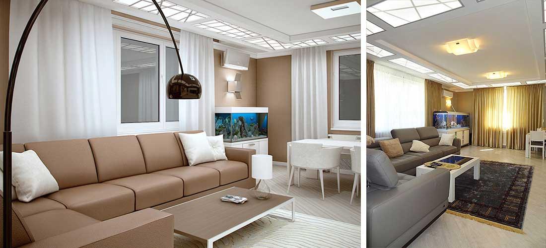 Интерьер квартиры 120 кв.м. в Сочи