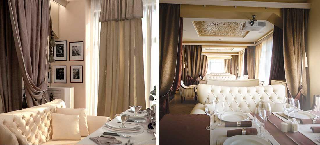 Интерьер ресторана 200 кв.м. в Сочи